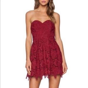 Lovers + Friends Red Lace Dress